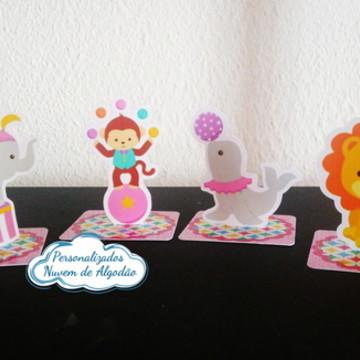 Aplique 3D - Circo de menina