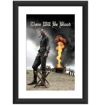 Quadro Filme Sangue Negro Cinema
