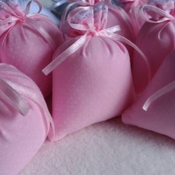 Lembrancinha sachê perfumado rosa poá