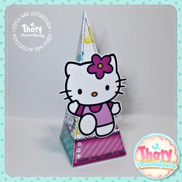 Caixa Pirâmide - Hello Kitty