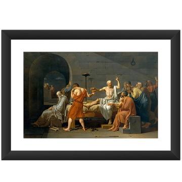 Quadro A Morte De Sócrates Arte Famosas Filosofia
