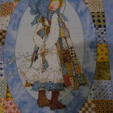 Painel em patchwork menina