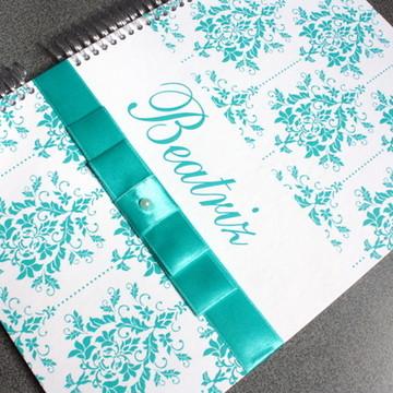 Caderno Recordação 15 anos - Tiffany
