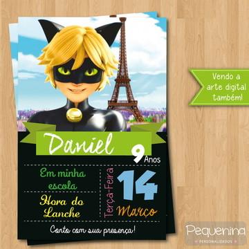 Convite - Cat Noir