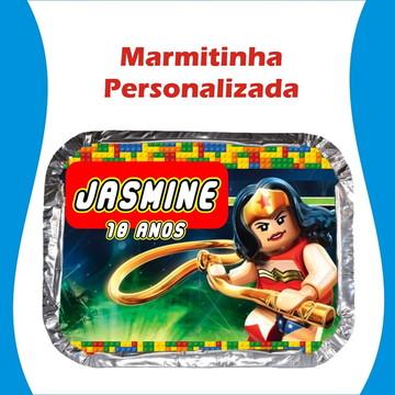 Marmitinha Mulher Maravilha Lego