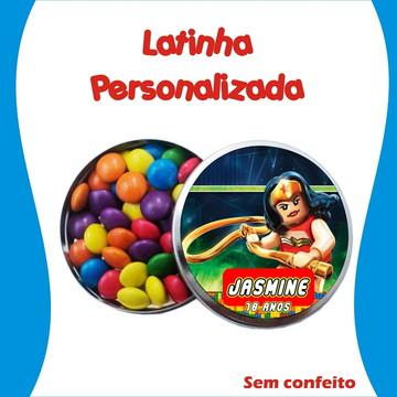 Latinha Mulher Maravilha Lego