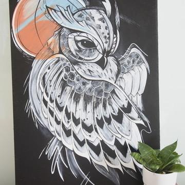 Quadro decorativo Coruja