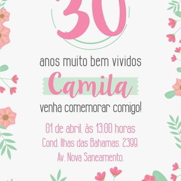 convite aniversario adulto feminino