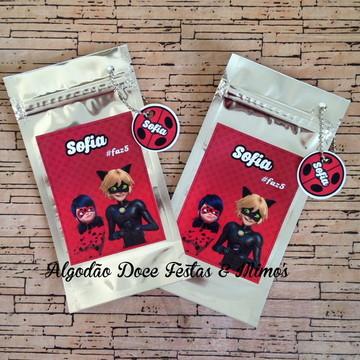 Saco zip com tag Ladybug Miraculous
