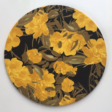 Capa de Sousplat Floral Amarelo e Preto