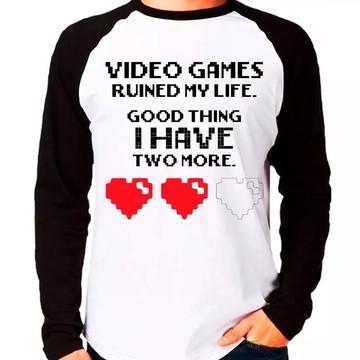 Camiseta Tenho Mais Duas Vidas M. Longa
