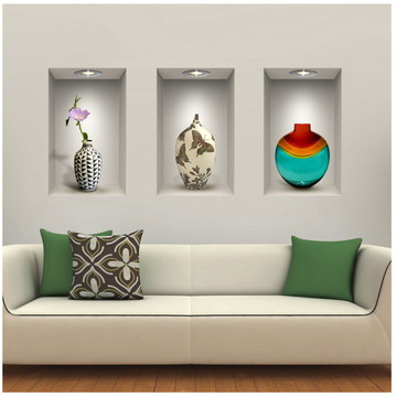 Adesivo Decorativo Nichos Vasos e Flores