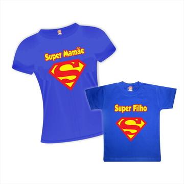 Kit Camisetas Super Mãe e Filho