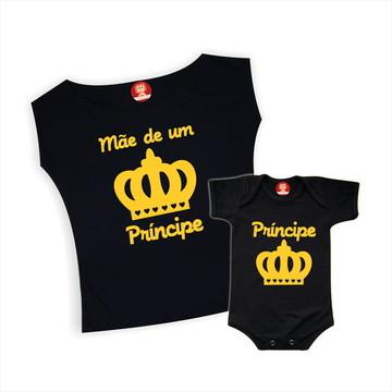 Kit Camisetas Mãe de um Príncipe