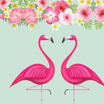 Painel Flamingo 1x0,65m