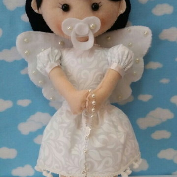 Boneca anjo de feltro
