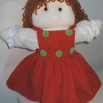 Boneca em tecido 100% algodão