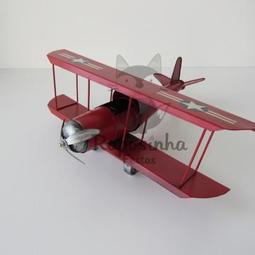 Locação - Avião Vermelho (Metal)