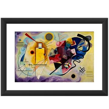 Quadro Kandinsky Obras Famosas Arte Vermelho Amarelo Azul