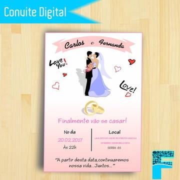 Convite Digital de Casamento ||