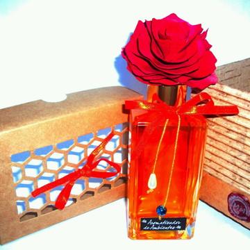 Difusor de aromas com flor de madeira