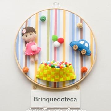 Quadro Bastidor Brinquedoteca-Kit Escola