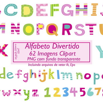 Kit digital Scrapbook Alfabeto 01