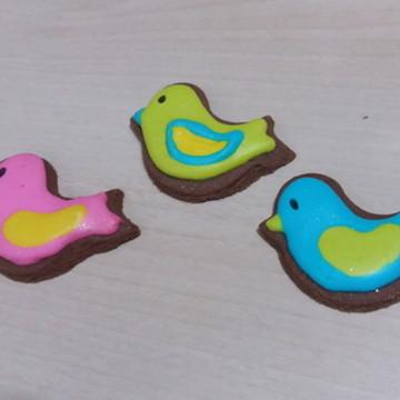 Biscoito decorado passarinhos