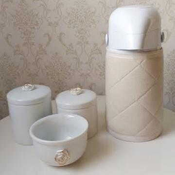 Kit higiene porcelana flor