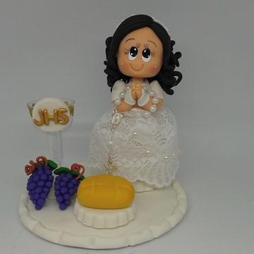 topo de bolo primeira comunhao