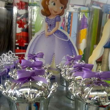 Coroa com laço princesa Sofia