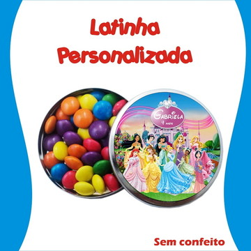 Latinha Princesas Disney