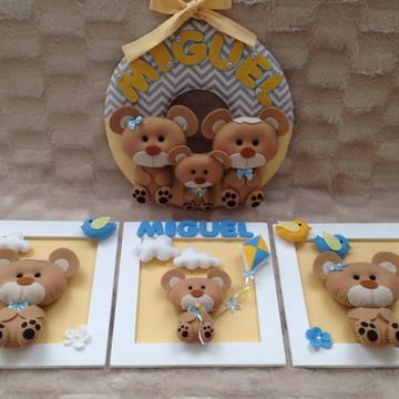 Kit decoração Família Urso
