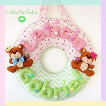 Porta Maternidade ursinhos feltro