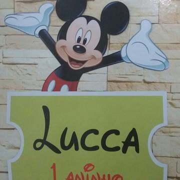 Placa Pvc Mickey