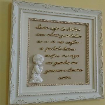 Quadro com oração santo anjo