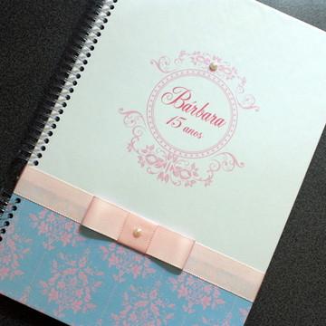 Caderno recordação - 15 anos - Rosa/Azul