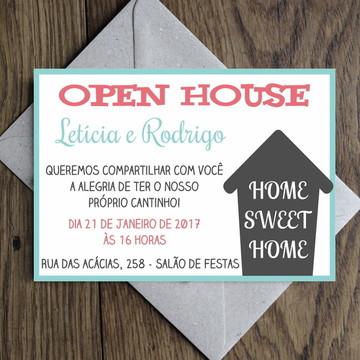Arte Convite Open House / Casa Nova 0003