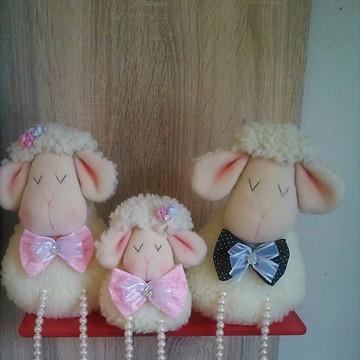 Familia de ovelha - ovelha decorativa