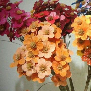 FLORES PÊSSEGO - molho com 50 flores