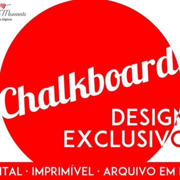 Chalkboard Digital Qualquer Tema