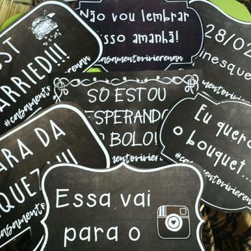 Placas Divertidas Casamento chalkboard