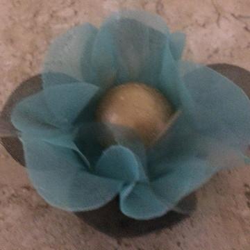 Forminhas Azul Tiffany com Preto