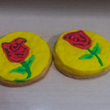 biscoito decorado rosa