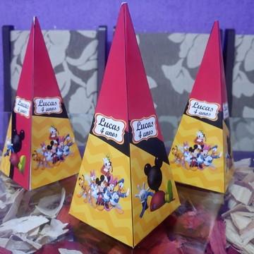 Caixa Cone Piramide Mickey