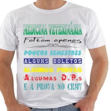 camiseta medicina veterinária (curso)