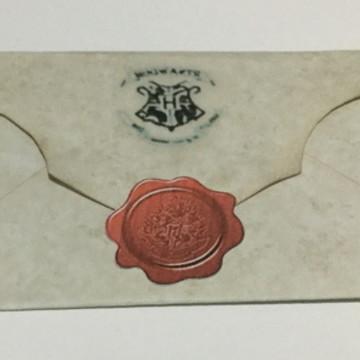 Convite Harry Potter - Carta Hogwarts