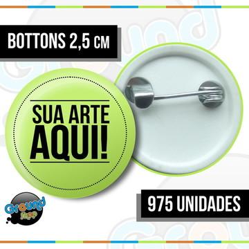 975 Bottons 2,5 Personalizados - Boton