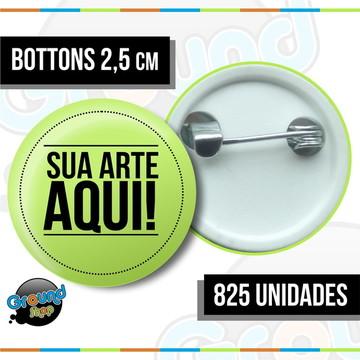 825 Bottons 2,5 Personalizados - Boton