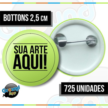 725 Bottons 2,5 Personalizados - Boton